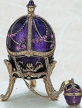Kubla Crafts Bejeweled Enamel KUB 0-3759 Royal Egg Box with Pendant