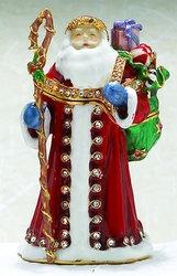 Kubla Crafts Bejeweled Enamel KUB 0-3894 Father Christmas Box