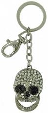 Kubla Crafts Bejeweled Enamel KUB 00-1448 Skull Key Ring