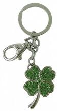 Kubla Crafts Bejeweled Enamel KUB 00-1449 Clover Key Ring