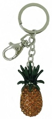 Kubla Crafts Bejeweled Enamel KUB 00-1454 Pineapple Key Ring