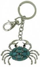 Kubla Crafts Bejeweled Enamel KUB 00-1467 Crab Key Ring