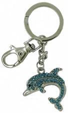 Kubla Crafts Bejeweled Enamel KUB 00-1468 Dolphin Key Ring
