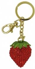 Kubla Crafts Bejeweled Enamel KUB 00-1474 Strawberry Key Ring