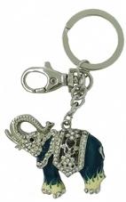 Kubla Crafts Bejeweled Enamel KUB 00-1479 Elephant Key Ring
