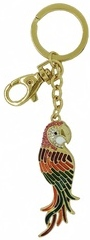 Kubla Crafts Bejeweled Enamel KUB 00-1480 Parrot Key Ring