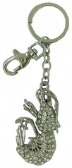 Kubla Crafts Bejeweled Enamel KUB 00-1496 Shrimp Key Ring