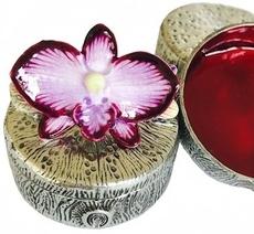 Kubla Crafts Bejeweled Enamel KUB 00-3061 Mini Box Orchid
