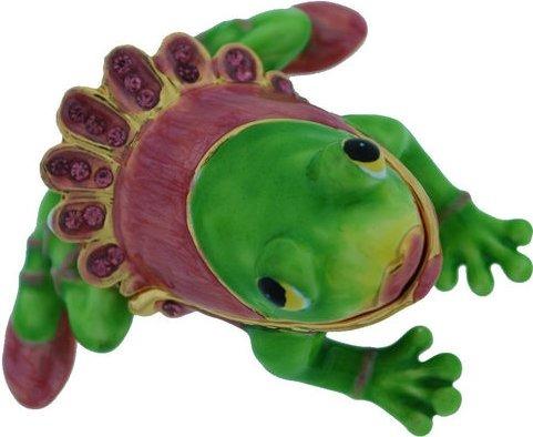Kubla Crafts Bejeweled Enamel KUB 00-3632 Ballerina Frog Box
