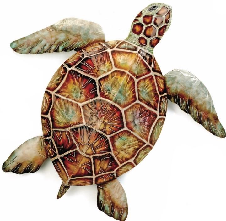 Kubla Crafts Capiz KUB 0243 Extra Large Capiz Sea Turtle Wall Decor