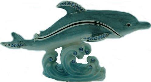 Kubla Crafts Bejeweled Enamel KUB 10-3927 Dolphin Box