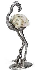 Kubla Crafts Bejeweled Enamel KUB 1142 Flamingo Shell Sculpture