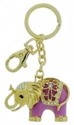 Kubla Crafts Bejeweled Enamel KUB 1426 Elephant Key Ring