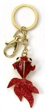 Kubla Crafts Bejeweled Enamel KUB 1451 Koi Fish Key Ring