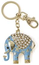 Kubla Crafts Bejeweled Enamel KUB 1466 Key Ring Elephant
