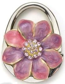 Kubla Crafts Bejeweled Enamel KUB 1477 Owl with Clear Large Gem Key Ring