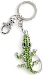 Kubla Crafts Bejeweled Enamel KUB 1491 Alligator Key Ring