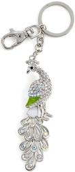 Kubla Crafts Bejeweled Enamel KUB 1492 Peacock Key Ring