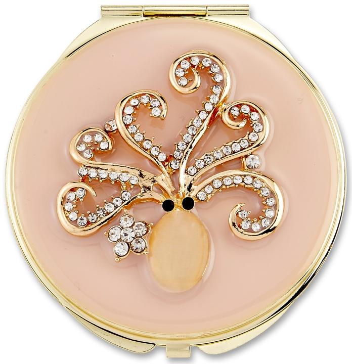 Kubla Crafts Bejeweled Enamel KUB 1957 Octopus Compact Mirror