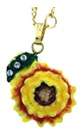 Kubla Crafts Bejeweled Enamel KUB 22-3593N Sunflower Necklace