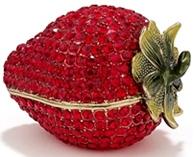 Kubla Crafts Bejeweled Enamel KUB 23-3291 Strawberry with Crystals Box