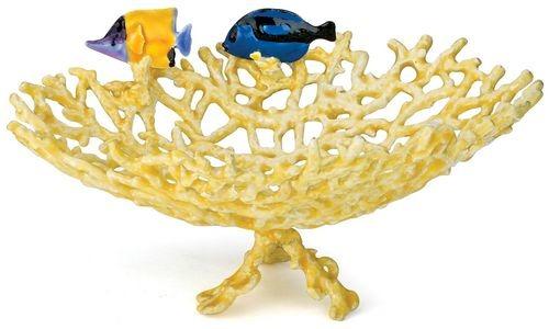 Kubla Crafts Bejeweled Enamel KUB 3014 Coral Fish Bowl
