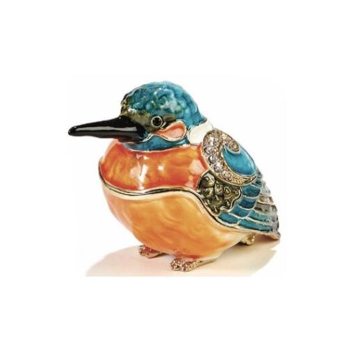 Kubla Crafts Bejeweled Enamel KUB 3041 Bird Box