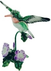 Kubla Crafts Bejeweled Enamel KUB 3044 Hummingbird Box