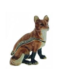 Kubla Crafts Bejeweled Enamel KUB 3047 Red Fox