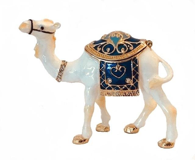 Kubla Crafts Bejeweled Enamel KUB 3111 Camel Box