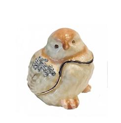 Kubla Crafts Bejeweled Enamel KUB 3121 Chick Box