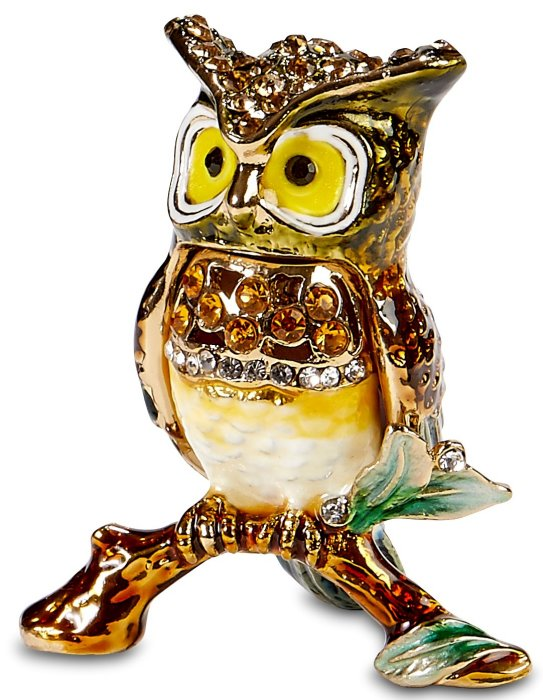 Kubla Crafts Bejeweled Enamel KUB 3123 Mini Owl Box