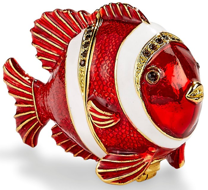 Kubla Crafts Bejeweled Enamel KUB 3199 Clownfish Box