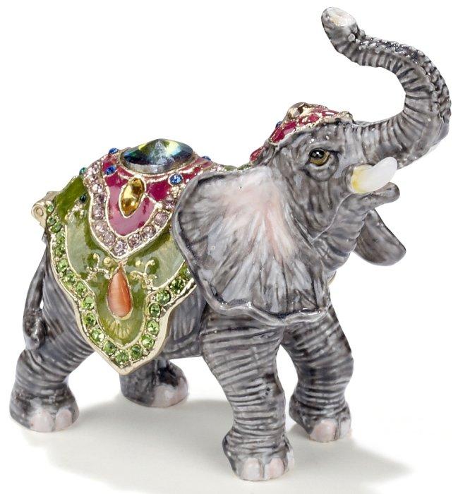 Kubla Crafts Bejeweled Enamel KUB 3232 Elephant Box