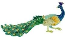 Kubla Crafts Bejeweled Enamel KUB 3233 Peacock Large Box