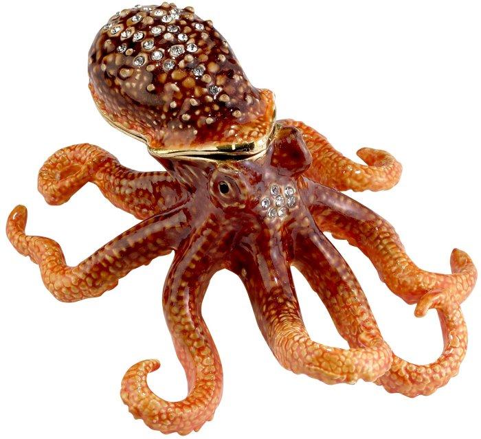 Kubla Crafts Bejeweled Enamel KUB 3249 Octopus Box