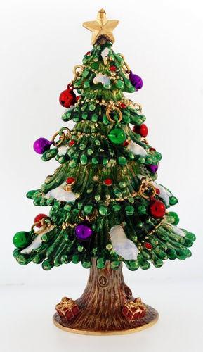 Kubla Crafts Bejeweled Enamel KUB 3357 Christmas Tree Large Box with hinges