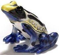 Kubla Crafts Bejeweled Enamel KUB 3387 Poison Dart frog box
