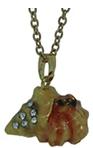 Kubla Crafts Bejeweled Enamel KUB 3394N Hermit Crab Necklace