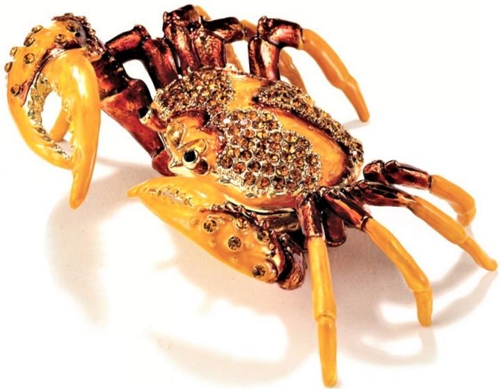 Kubla Crafts Bejeweled Enamel KUB 3416 Large Crab Box