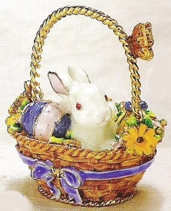 Kubla 3440 Bunny Rabbit Jeweled Box