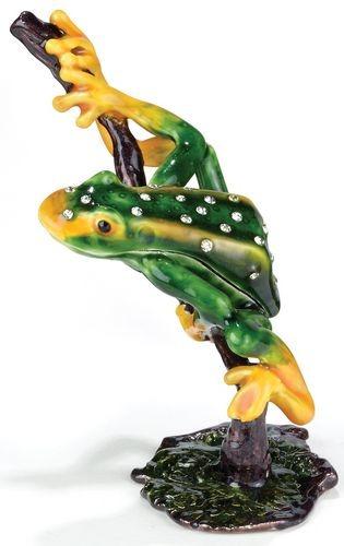 Kubla Crafts Bejeweled Enamel KUB 3455 Frog Box