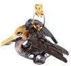 Kubla Crafts Bejeweled Enamel KUB 3582N Brown Pelican Necklace
