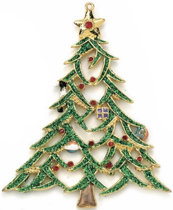 Kubla Crafts Bejeweled Enamel KUB 3686 Bejeweled Enamel Christmas Tree