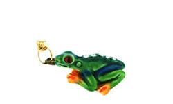 Kubla Crafts Bejeweled Enamel KUB 3781N Tree Frog Necklace