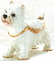 Kubla Crafts Bejeweled Enamel KUB 3811 Westie West Highland Terrier