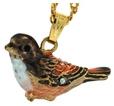 Kubla Crafts Bejeweled Enamel KUB 3816N Sparrow Necklace
