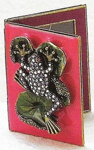 Kubla Crafts Bejeweled Enamel KUB 3818 Frog Frame Note Book
