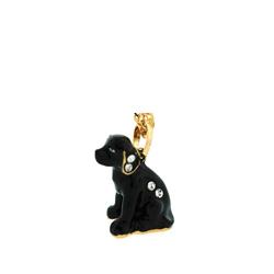 Kubla Crafts Bejeweled Enamel KUB 3835N Black Labrador Necklace