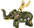 Kubla Crafts Bejeweled Enamel KUB 3859N Elephant Necklace
